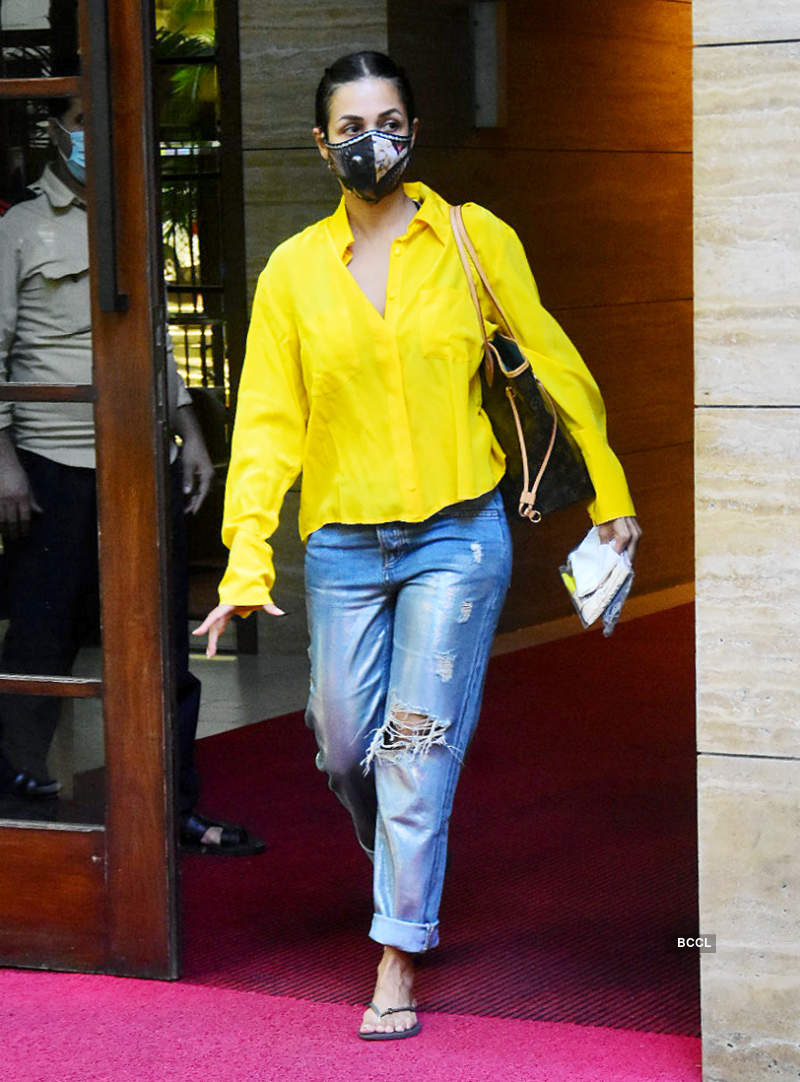 Malaika Arora spotted outside her residence post COVID-19 recovery