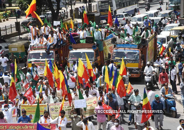Karnataka: Farmers intensify protest over state farm bills