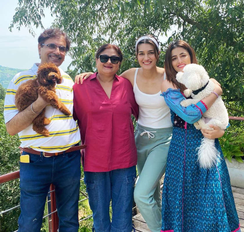 Kriti Sanon and her sister Nupur Sanon are enjoying their much-needed vacation