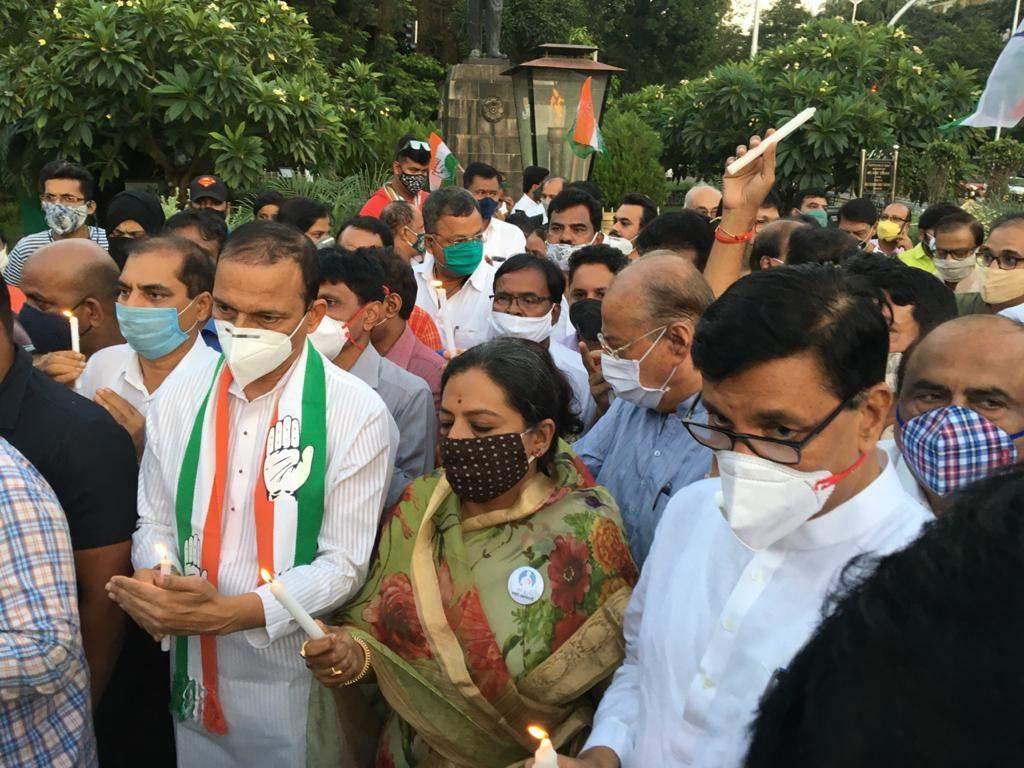Hathras rape and murder case: Maharashtra Congress president Balasaheb Thorat leads protest in Mumbai
