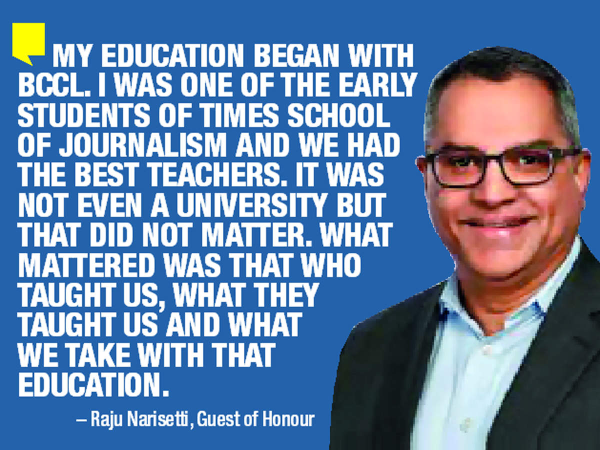 Raju Narisetti was the guest of honour at the convocation