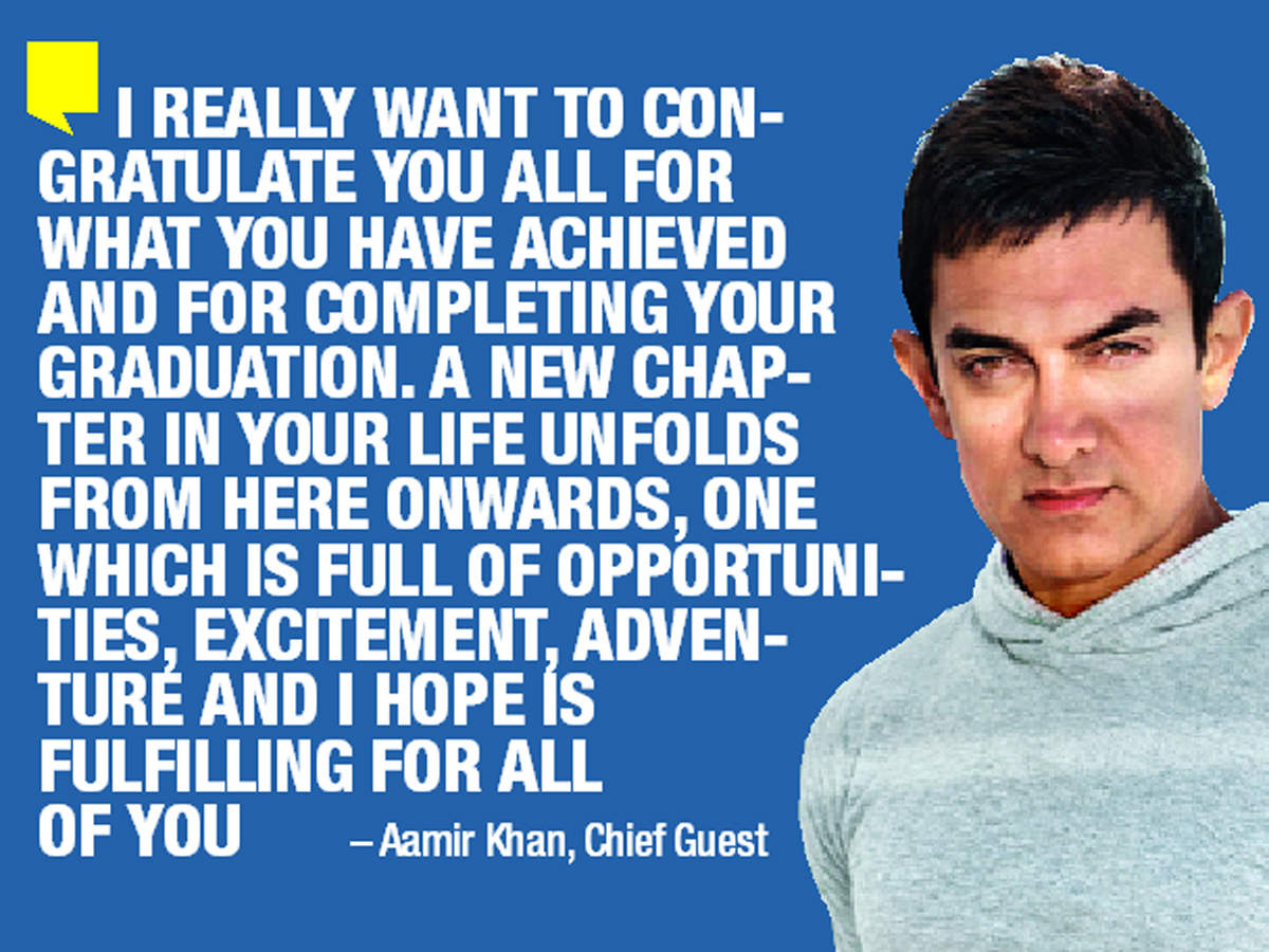Amir Khan congratulated the students of the outgoing batch