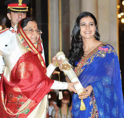 Kajol received Padma Shri award