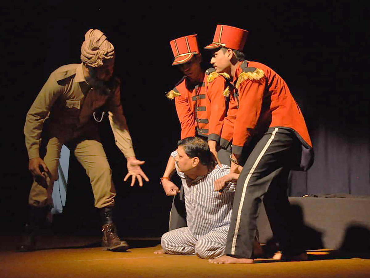 A scene from the play Gagan Damama Bajyo (BCCL)