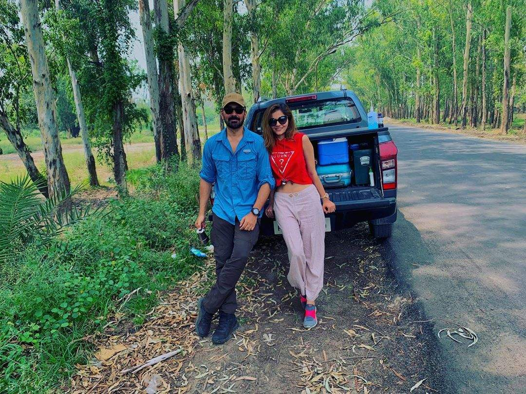 Pictures of Bigg Boss 14 couple Rubina Dilaik and husband Abhinav Shukla go viral