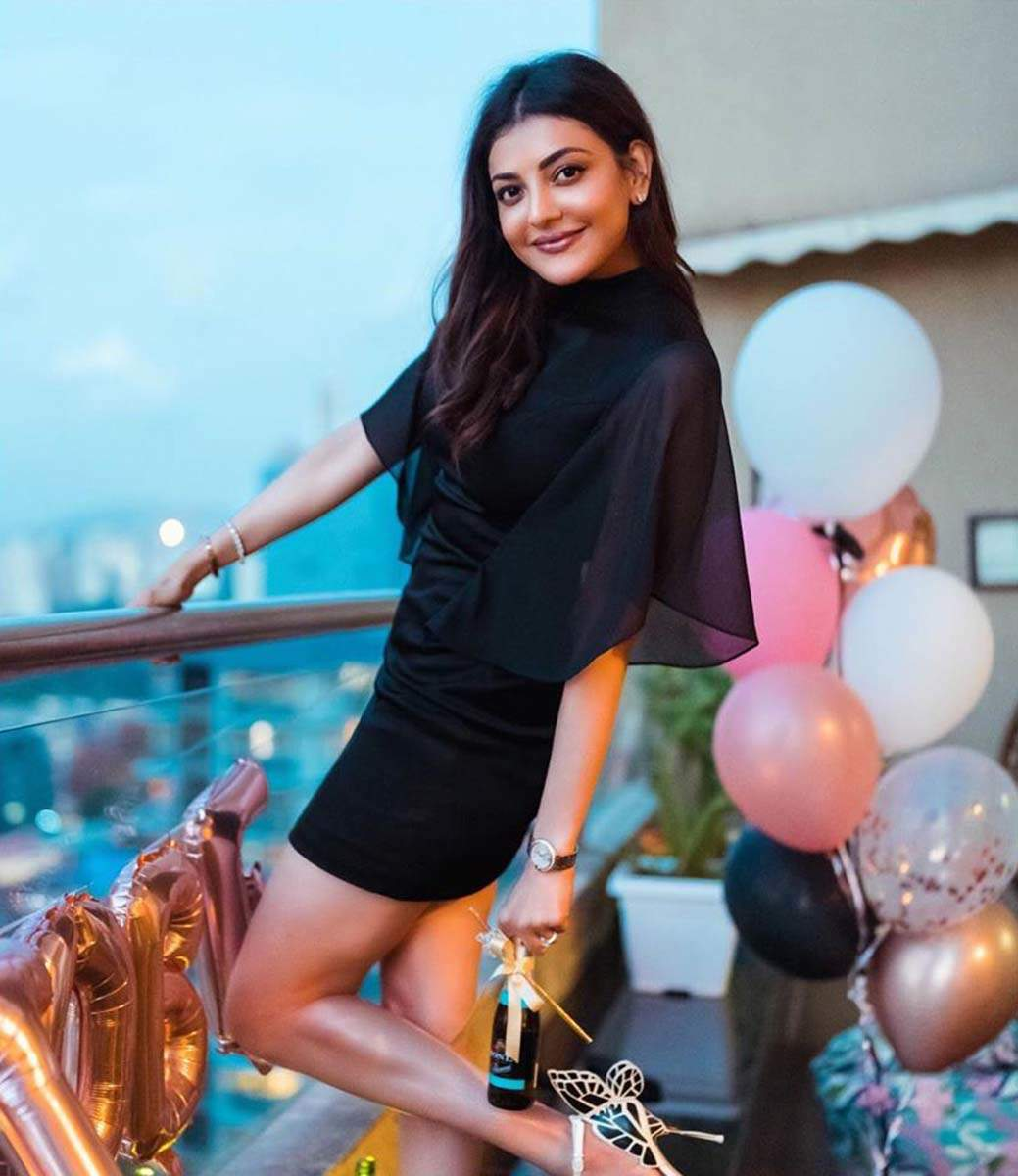 Kajal Aggarwal flaunts her stunning little black dress as she embraces the 'new normal'