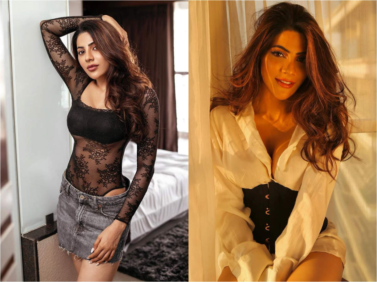 Bigg Boss 14's Nikki Tamboli is all about glam and sass; a look at her stylish pictures | The Times of India