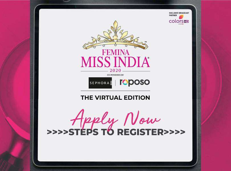 You are just 8 steps away! Register now for Femina Miss India 2020
