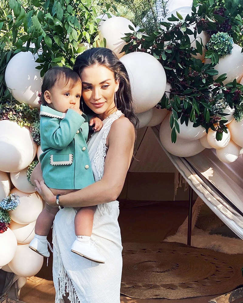 Adorable pictures from Amy Jackson's son's birthday celebration