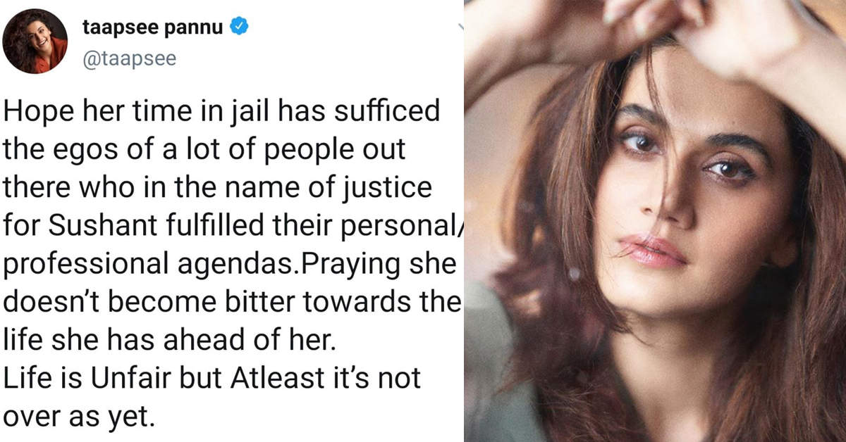 From Taapsee Paanu, Vikram Bhatt to Swara Bhaskar, B'wood celebrities react to Rhea Chakraborty's bail