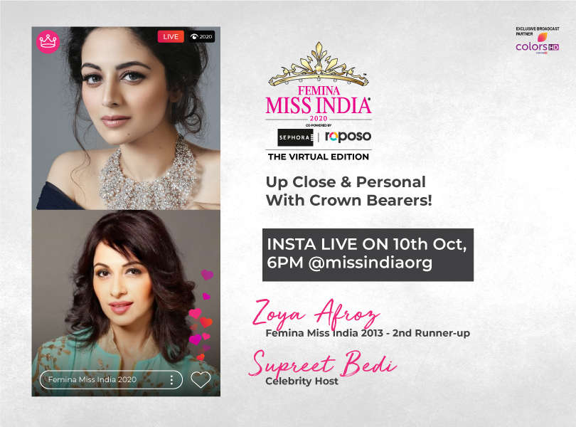 Stay tuned as we go live with Zoya Afroz and Supreet Bedi