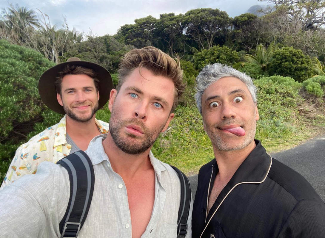 Chris Hemsworth and brother Liam enjoy a vacation on a private island with family