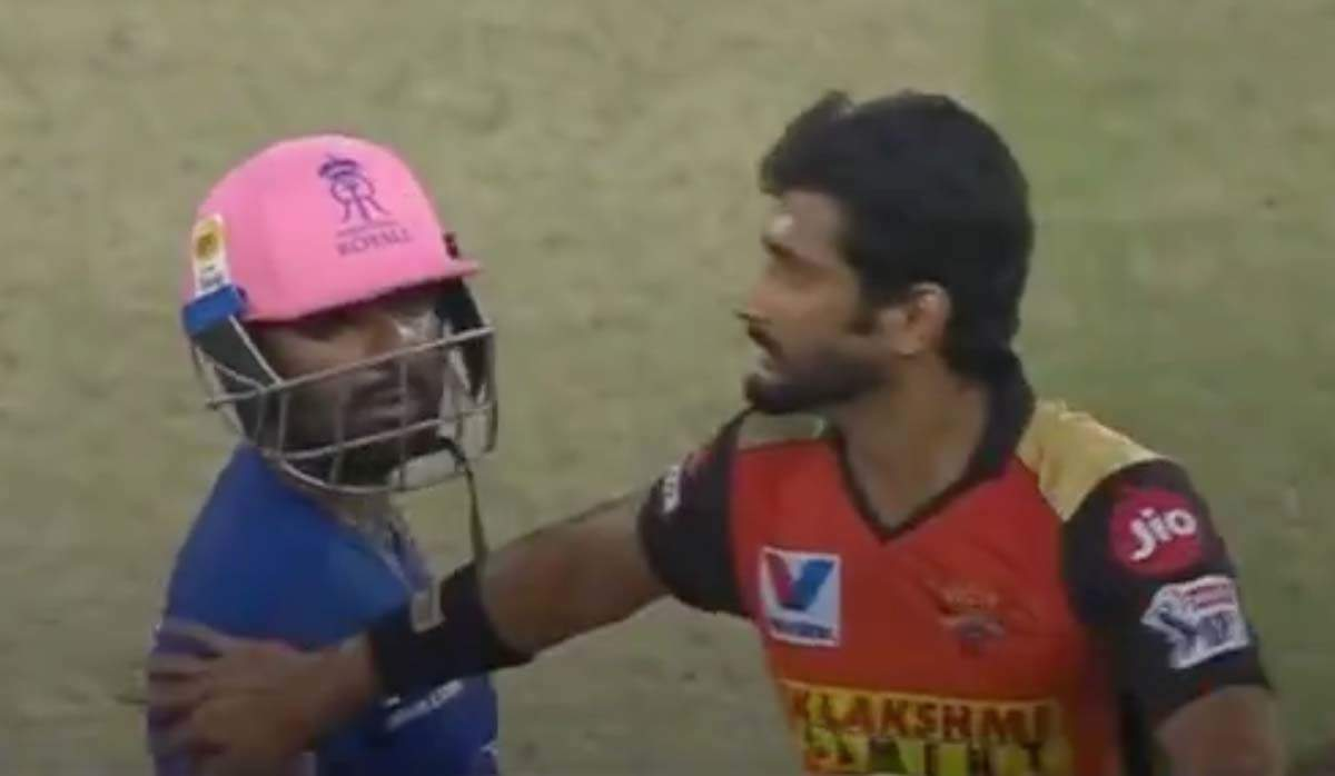 IPL 2020 sees first fight as Rahul Tewatia and Khaleel Ahmed engage in heated arguement