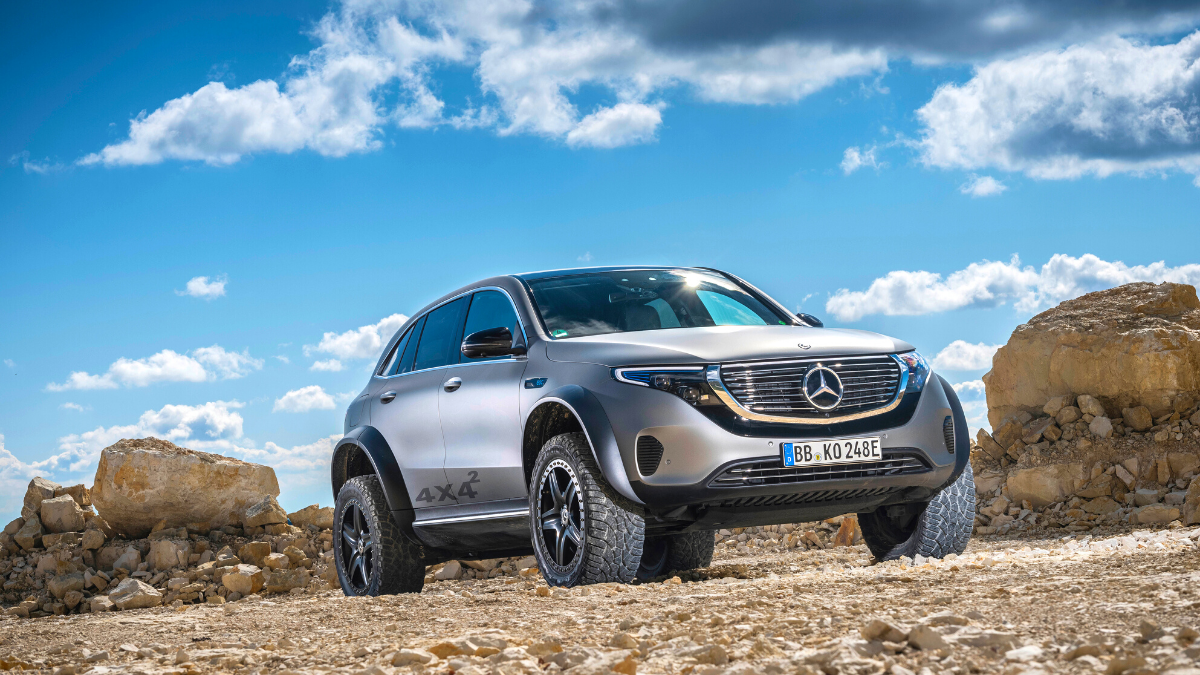 Mercedes-Benz EQC upping its off-roading game