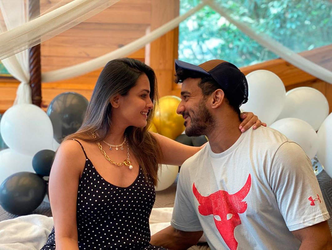 Anita Hassanandani and Rohit Reddy's babymoon and wedding anniversary celebration pictures go viral