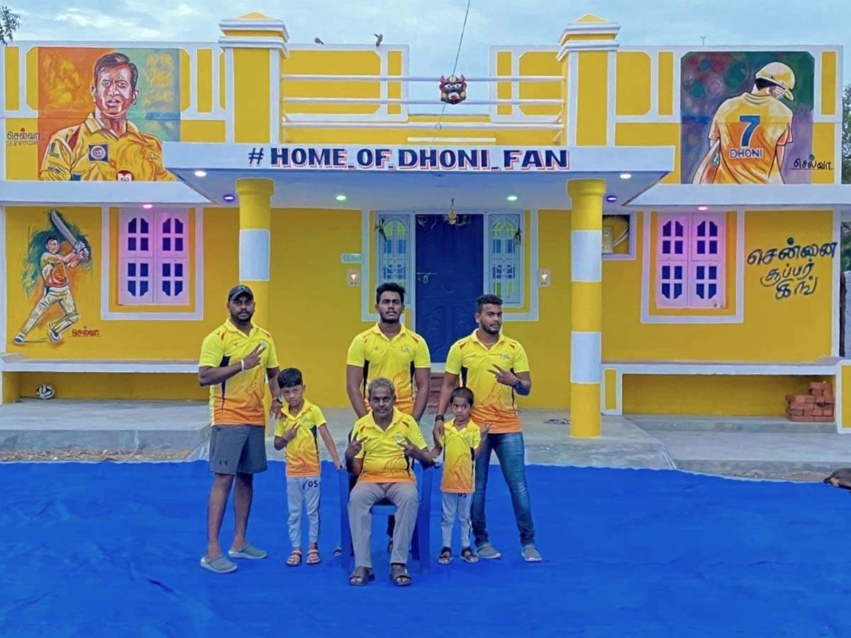 MS Dhoni's die-hard fan paints his house in CSK colours as tribute to the IPL team