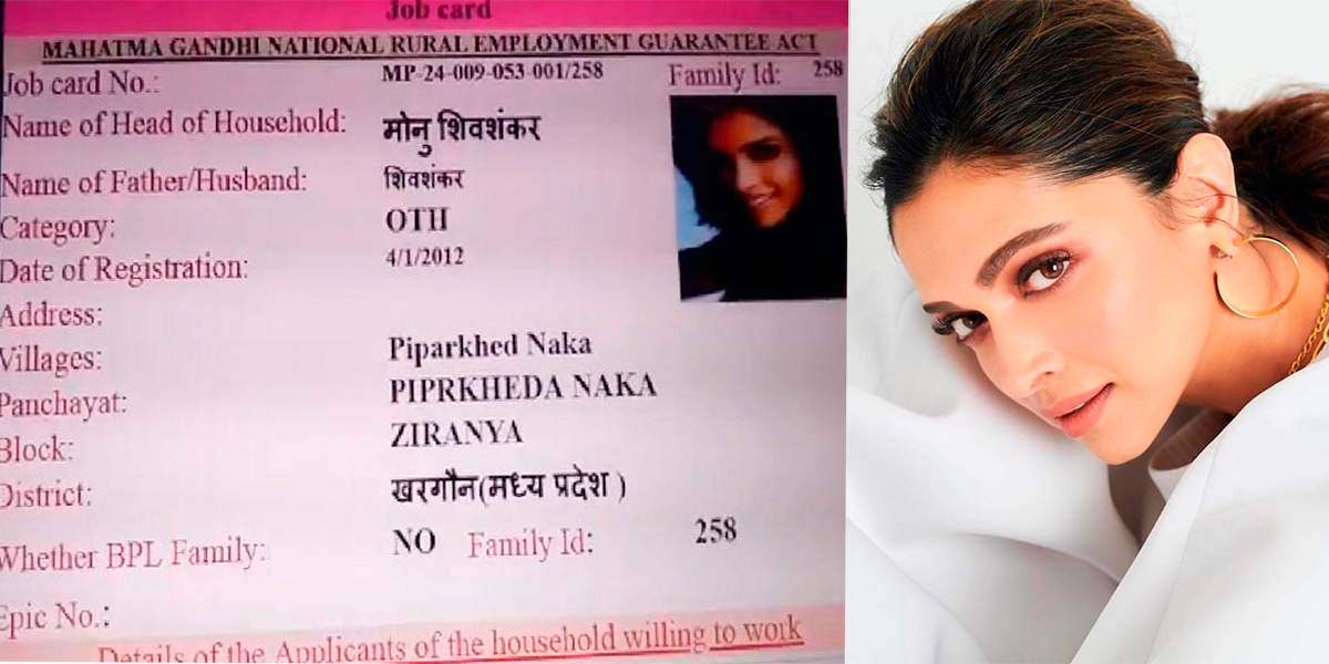 Deepika Padukone and Jacqueline Fernandez's pictures appear on NREGA job cards in Madhya Pradesh
