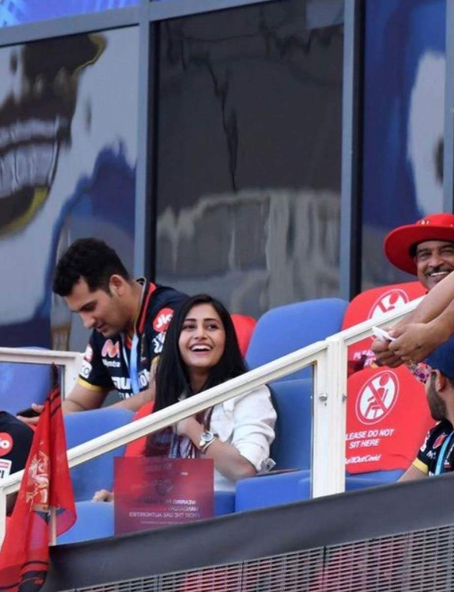 Yuzvendra Chahal's fiance Dhanashree shares pictures from her first IPL match