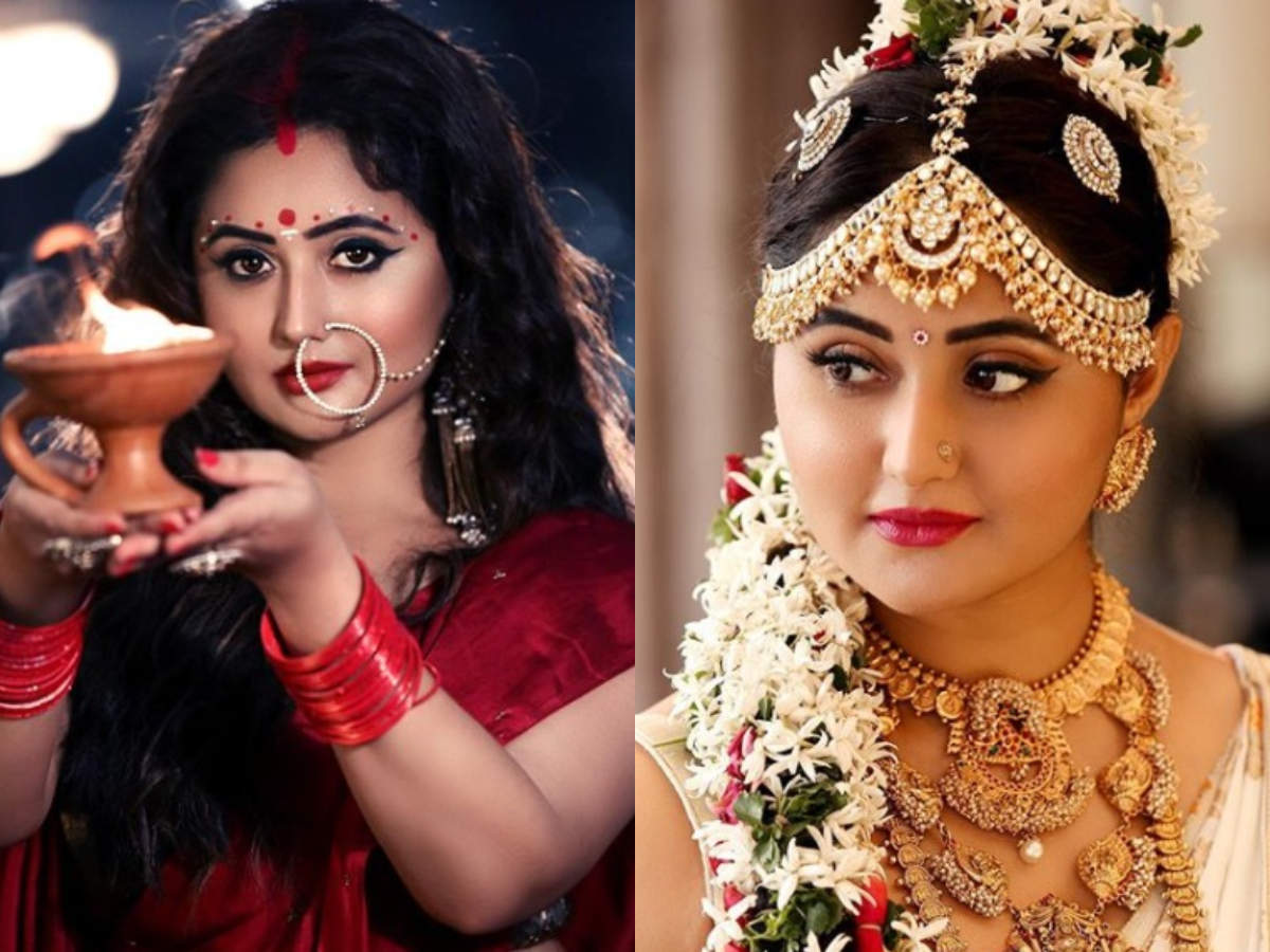 Acing the bong beauty look to channeling her inner divinity in a silk saree; Bigg Boss 13's Rashami Desai is high on festive glamour - Times of India