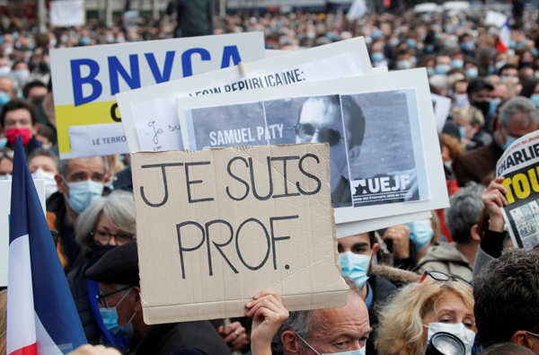 France: Thousands join protest against beheading of teacher for showing cartoons of Prophet Muhammad
