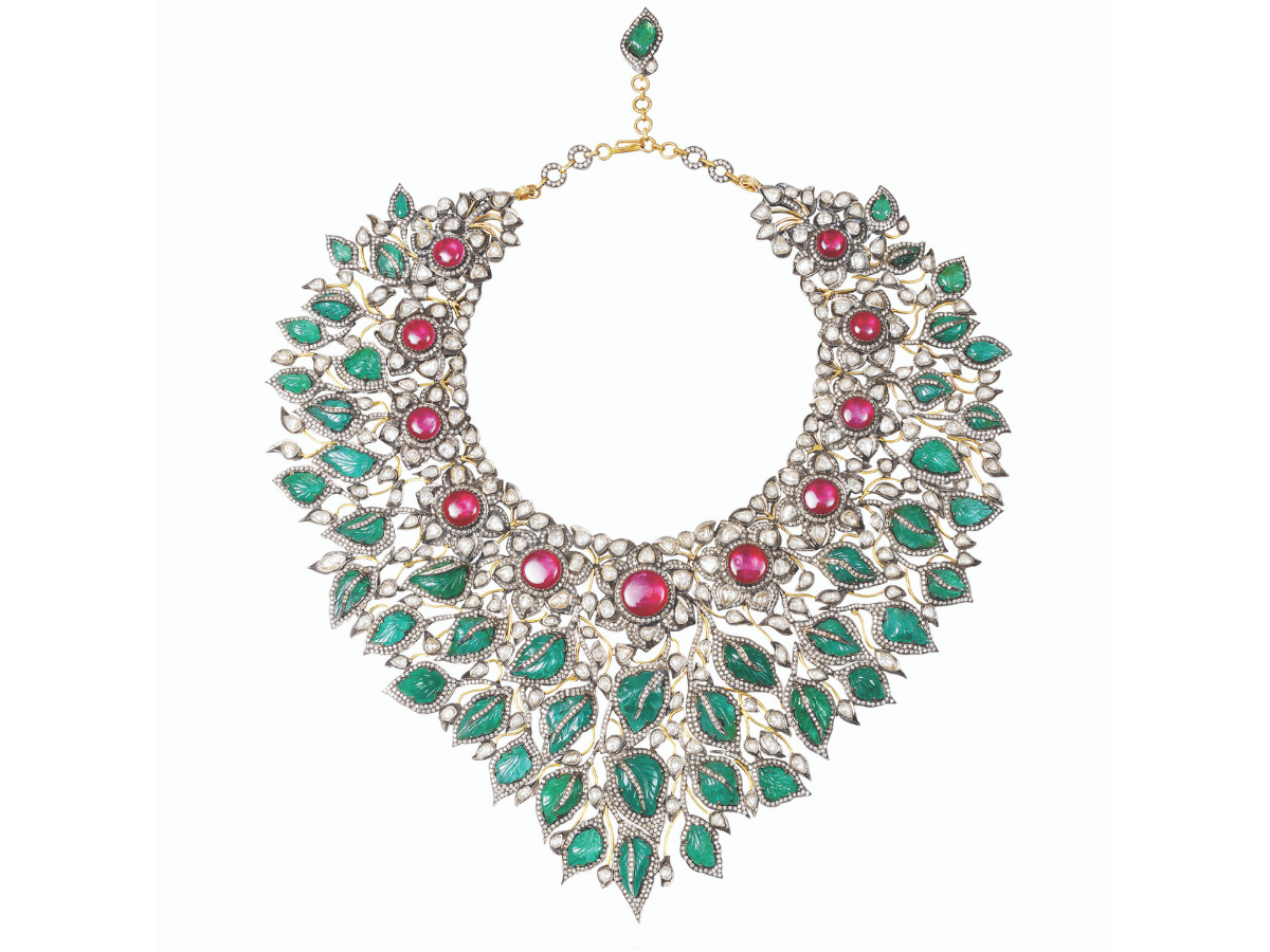 Necklace Amrapali Jewels for Project Blossoming by Gemfields
