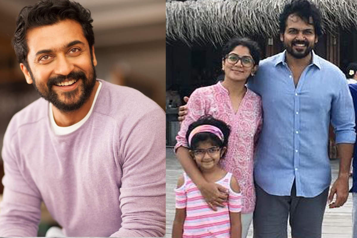 Tamil star Suriya rejoices as brother Karthi and his wife Ranjani welcome their second child