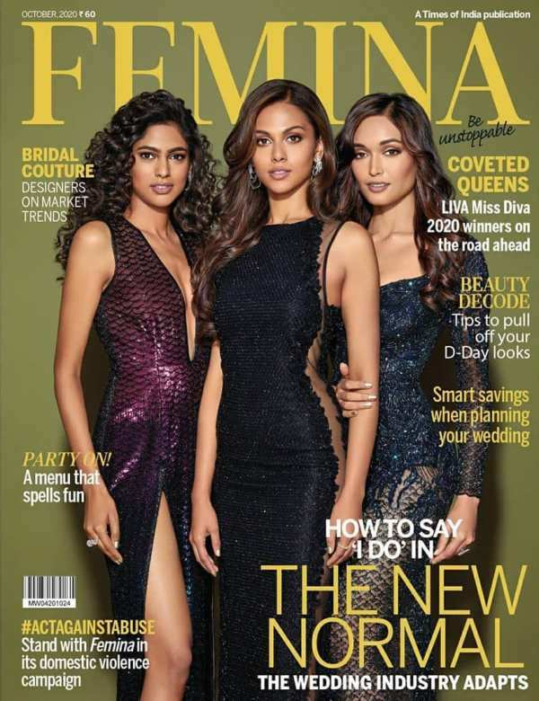 LIVA Miss Diva 2020 winners grace the latest cover of Femina