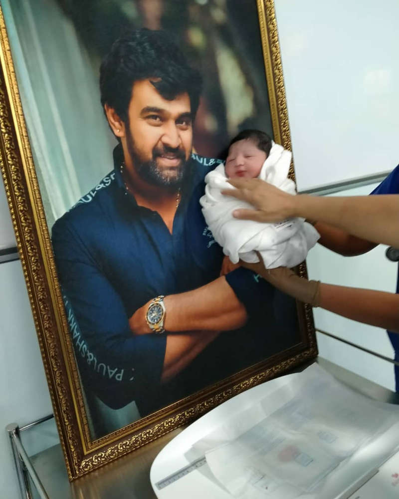 First pictures of late actor Chiranjeevi Sarja & wife Meghana's baby boy