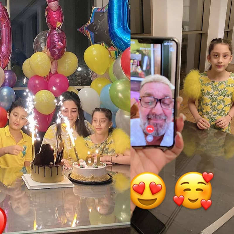 After beating cancer, Sanjay Dutt makes twins Shahraan & Iqra's birthday special