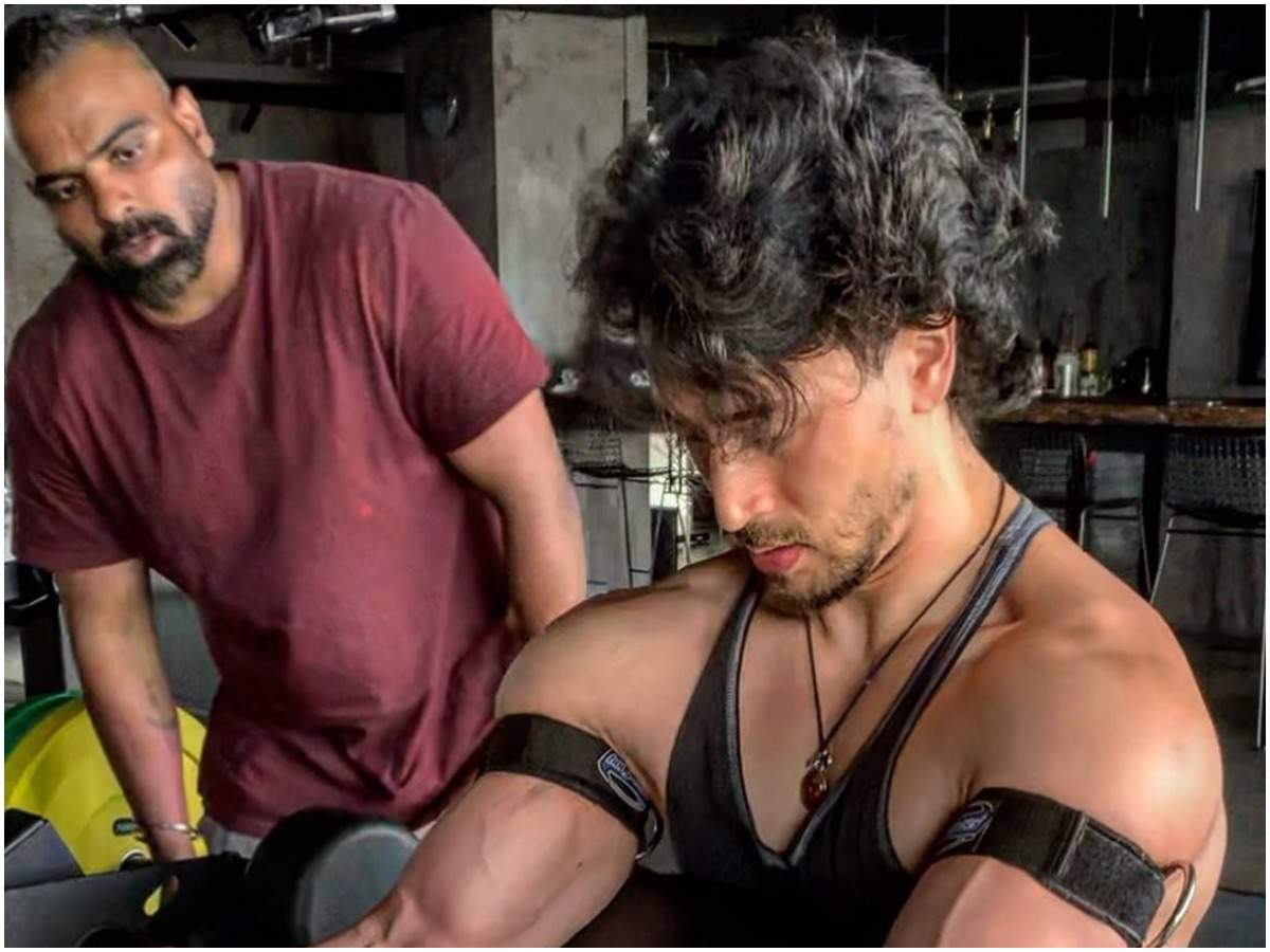 Tiger Shroff with Rajendra Dhole