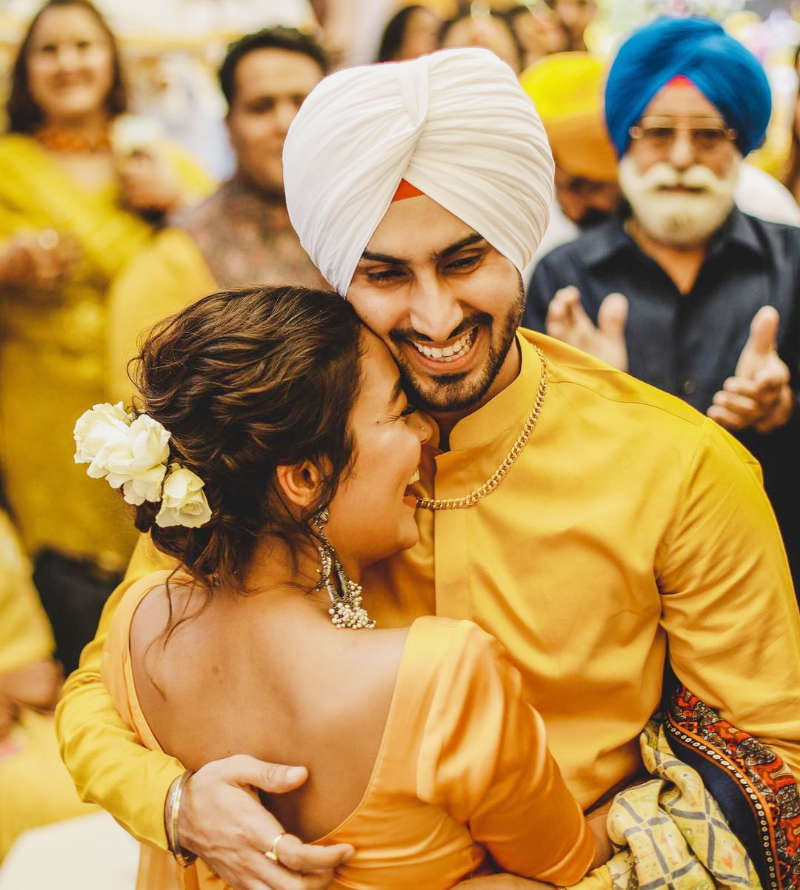 Inside pictures from Neha Kakkar & Rohanpreet Singh's pre-wedding ceremonies