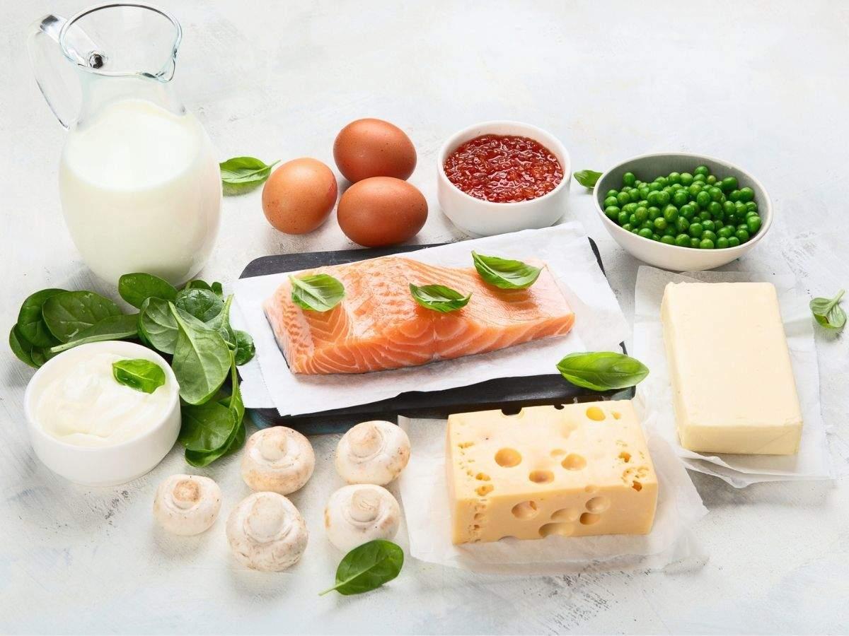 Vitamin D and calcium-rich foods