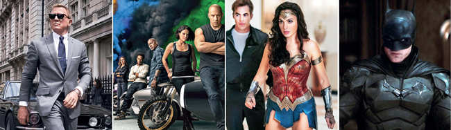 The Batman; No Time To Die; Fast and Furious 9, Wonder Woman: 1984