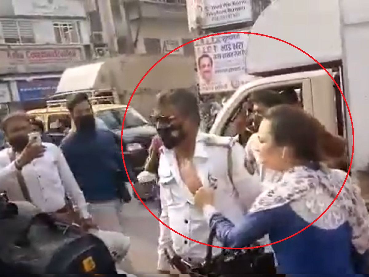 Traffic Police Brutally Beaten By Woman In Mumbai