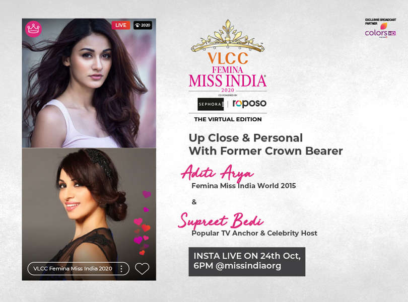 Stay tuned as we go live with Aditi Arya​ and Supreet Bedi