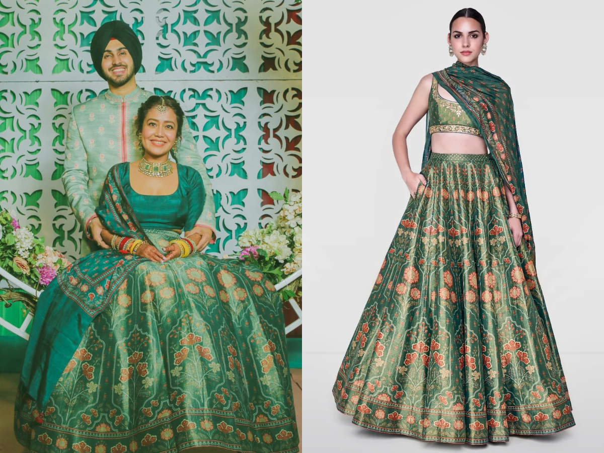 Neha Kakkar Wedding Lehenga Cost Bride Neha Kakkar Wore A Gorgeous Anita Dongre Lehenga Which Costs Under 1 Lakh