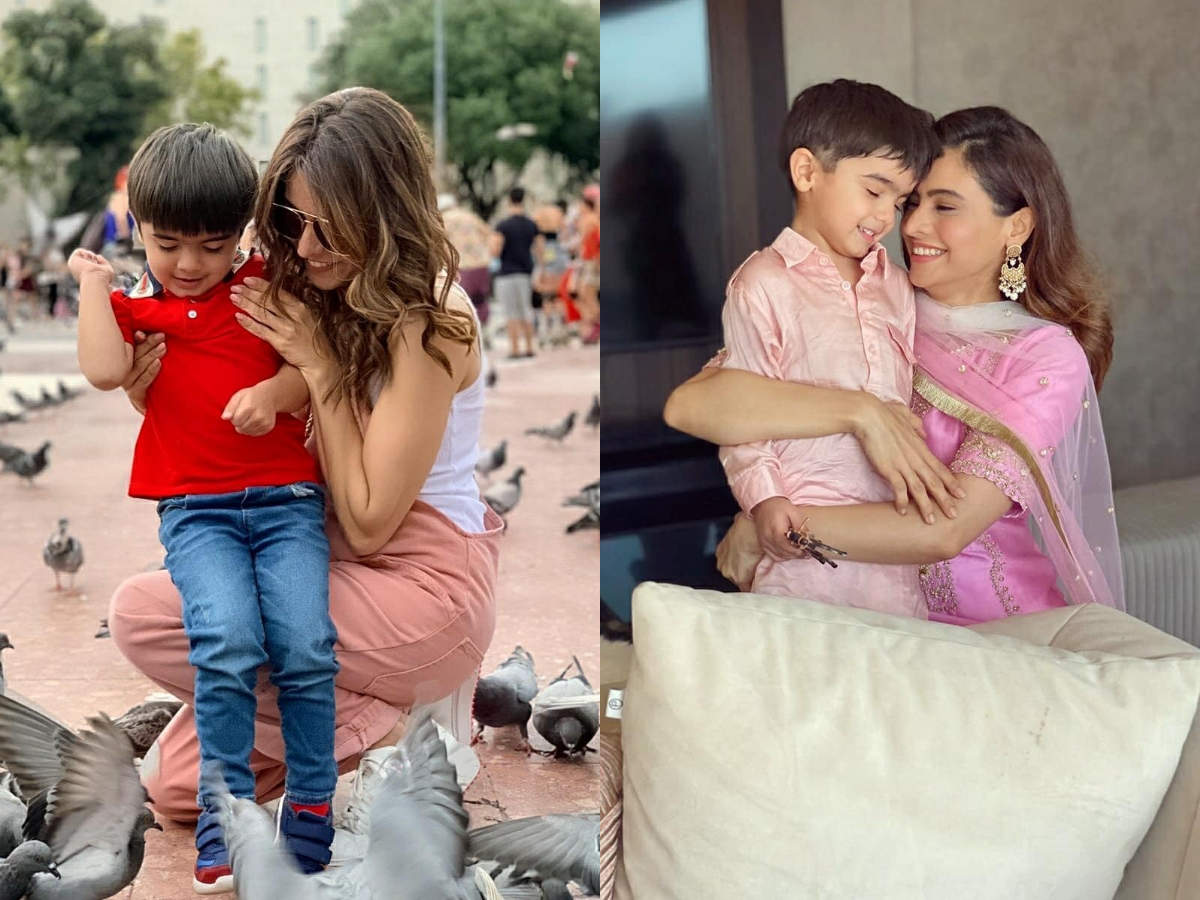 Aamna Sharif with her son Arain Kapoor