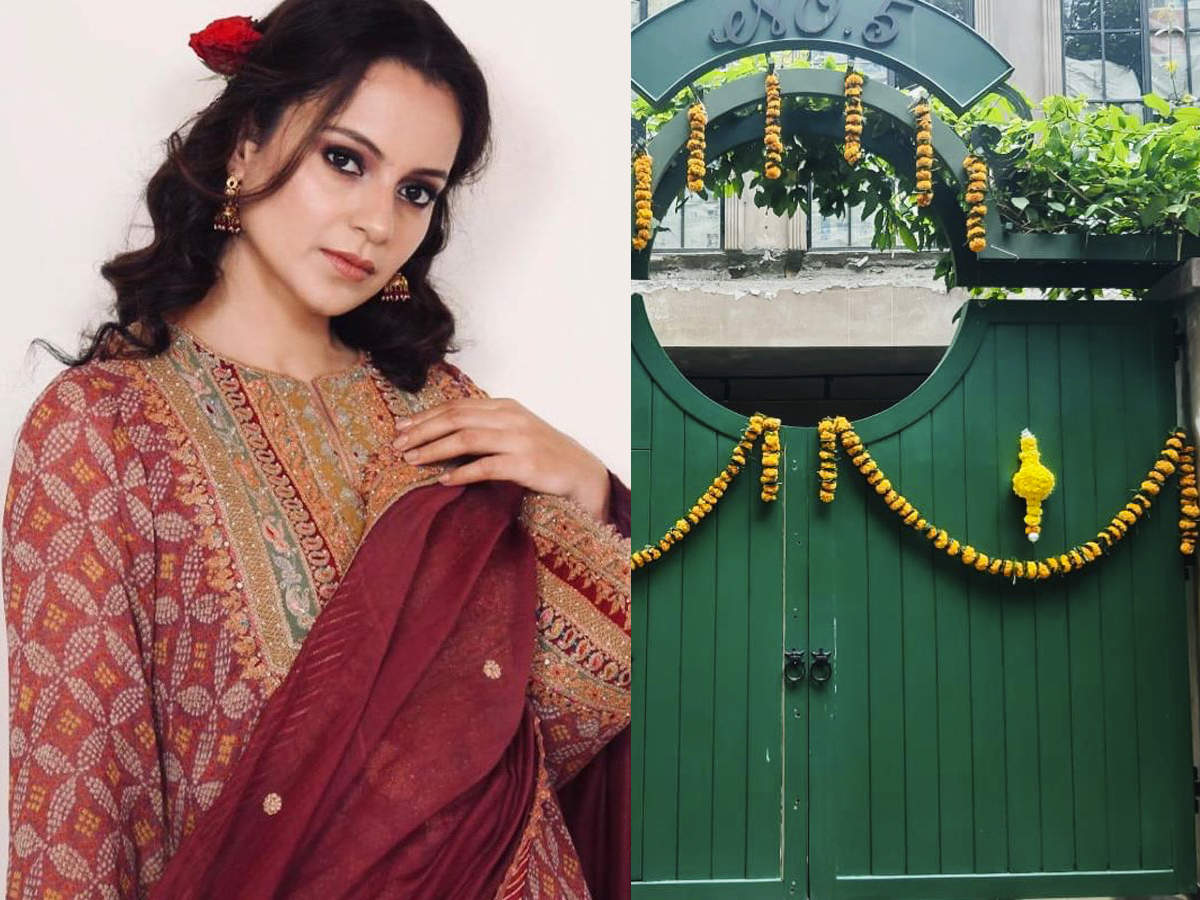 Kangana Ranaut shares photos of Mumbai office on Dusshera; takes jibe at Maharashtra Government