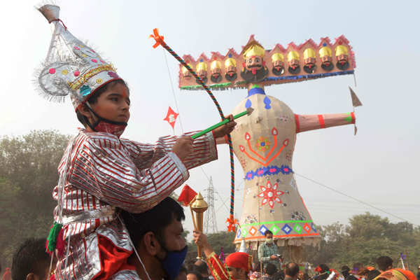 Nation celebrates Dussehra on a subdued note