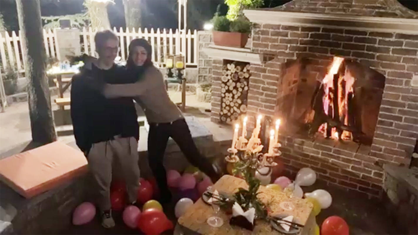 Raveena Tandon rings in her birthday with husband Anil Thadani in Dalhousie