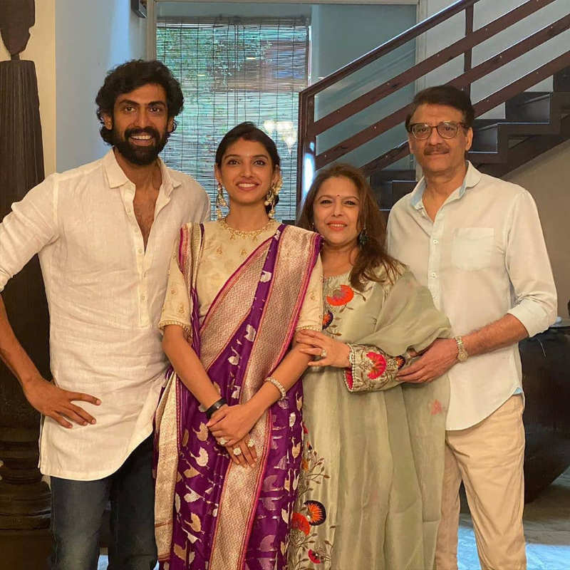 Rana Daggubati and Miheeka Bajaj celebrate their first Dussehra together post-wedding