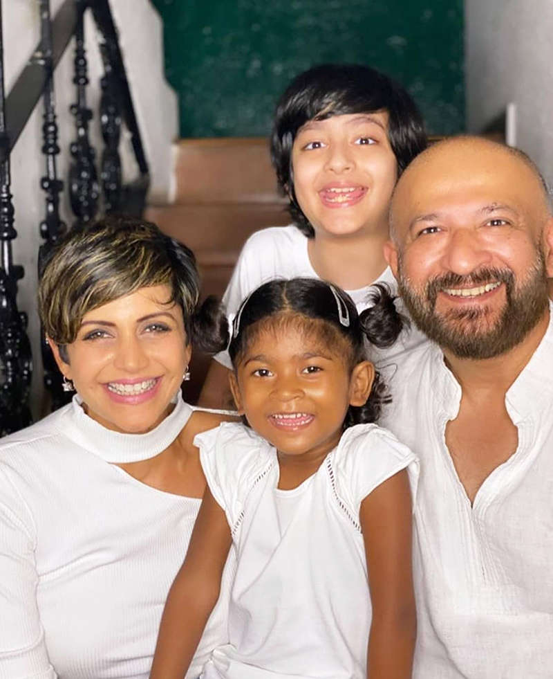 Mandira Bedi adopts a baby girl, shares candid photos