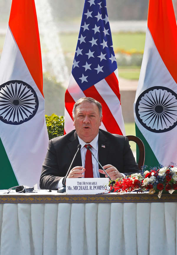 US Secretary Mike Pompeo visits India