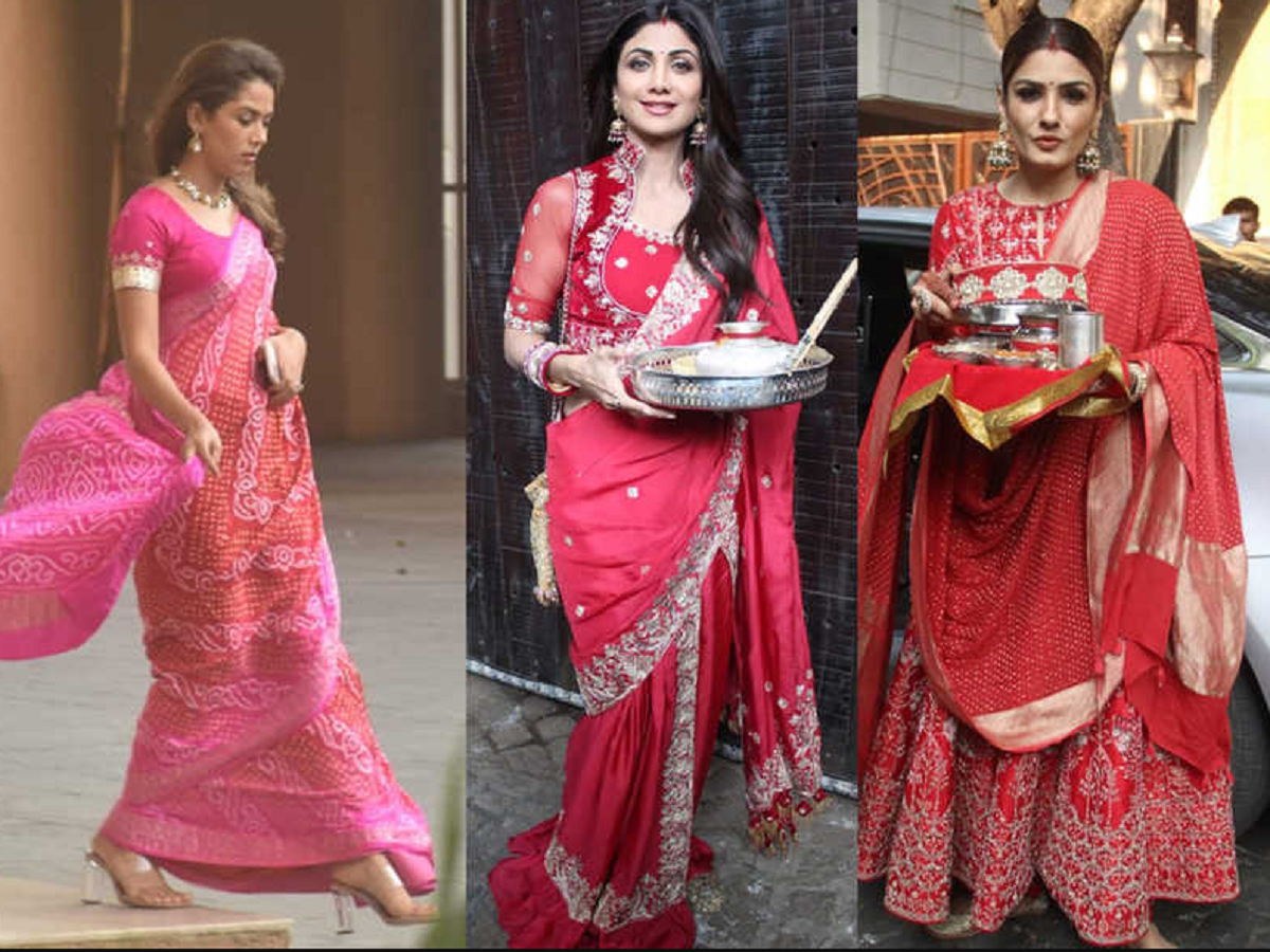 Karwachauth 2020: Beautiful red sarees for your Karwachauth look