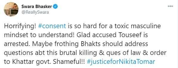 Swara Bhasker Twitter