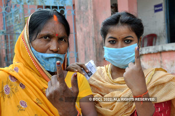 Bihar votes in 1st election amid COVID-19