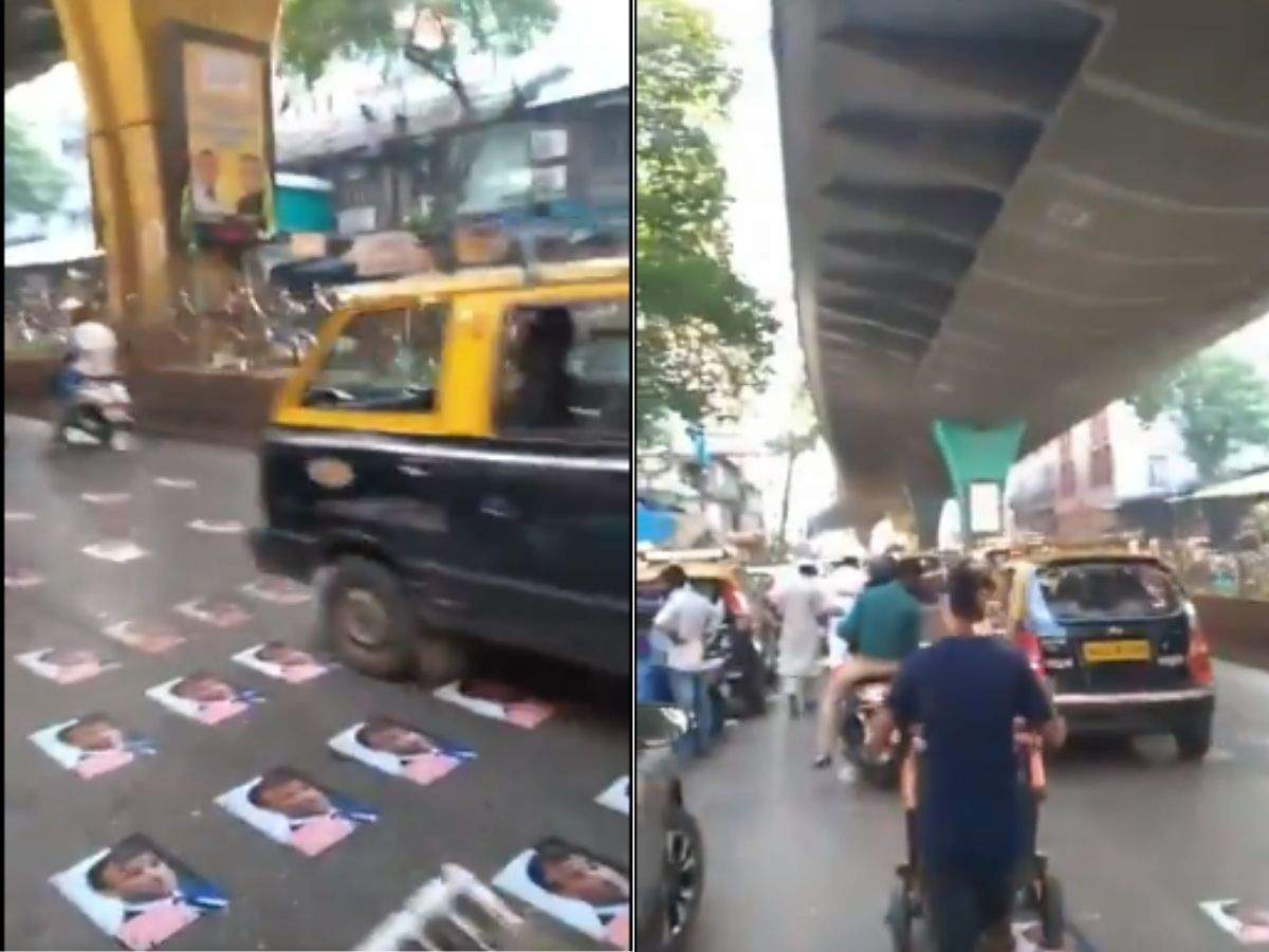 Video Police Remove French President Emmanuel Macron S Macron Posters Stuck On Mohammad Ali Road