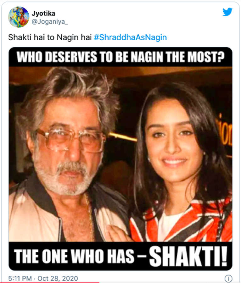 Hilarious memes of Shraddha Kapoor after she signed Naagin trilogy