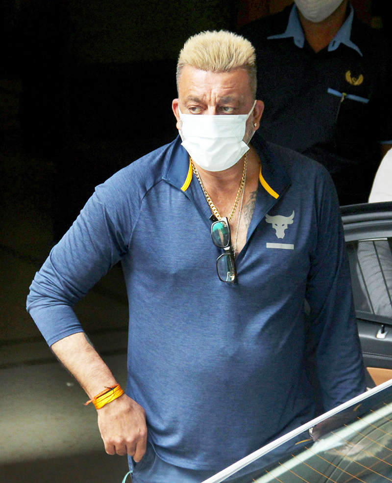 Sanjay Dutt flaunts his platinum blonde hairdo in these new pictures