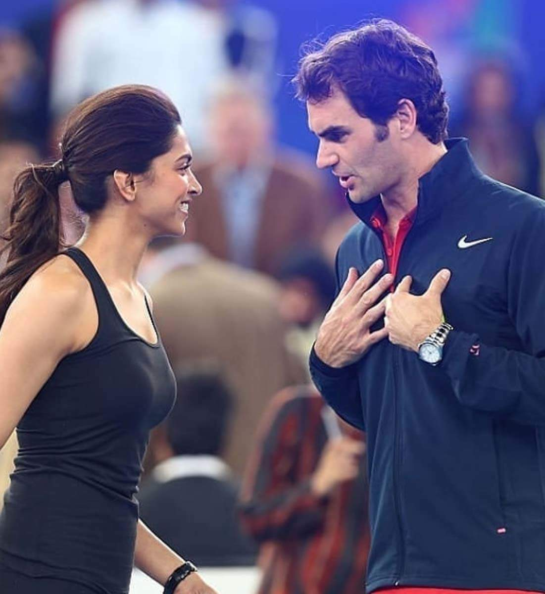 These pictures of Deepika Padukone with tennis star Roger Federer go viral